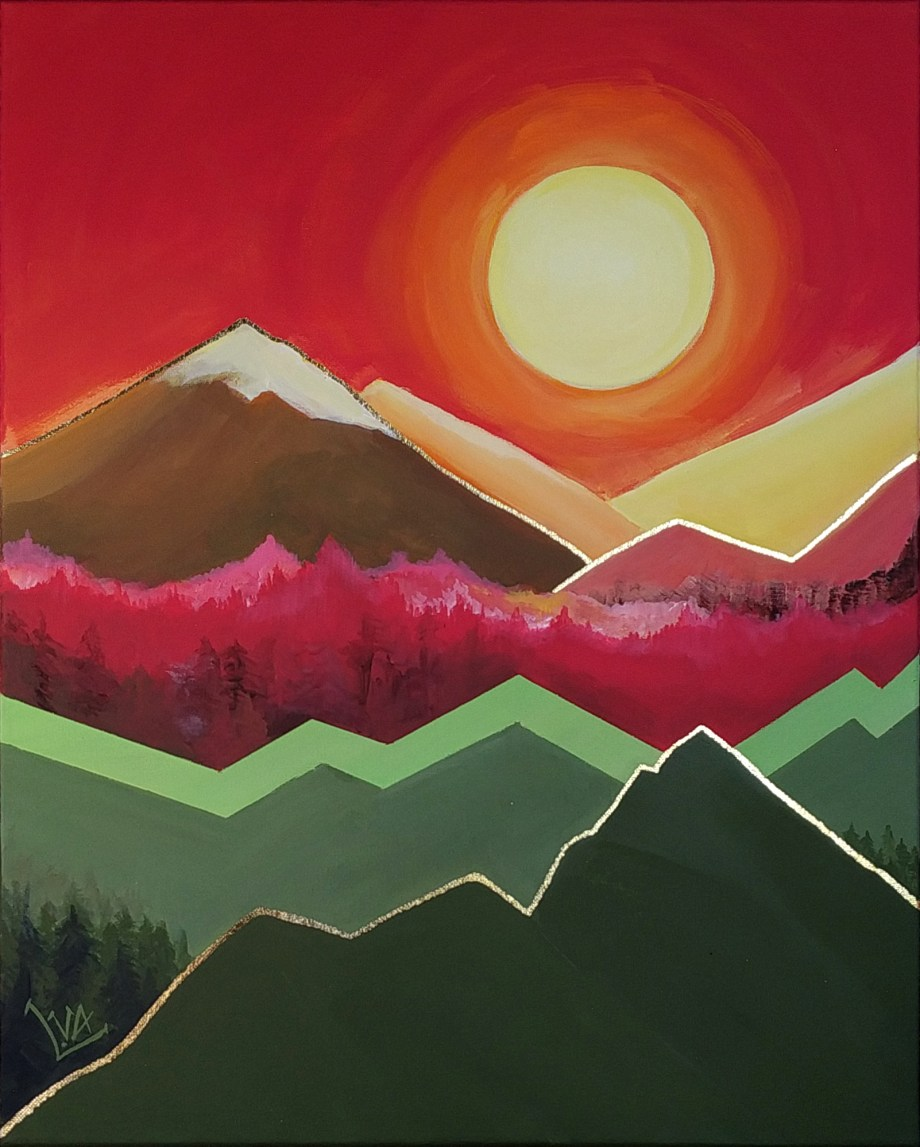 Mountains and Thousands of Suns #03 | Acrylic paint on Canvas | 16 in x 20 in