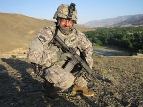 ISU LEP Gilbert on patrol - Kowte Ashrow Wardak Province June 2010