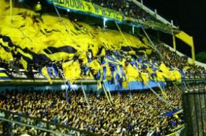 Boca's Bombonera (Chocolate Box) stadium on match day. Credit: Pablo Dodda via Creative Commons