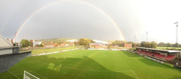 Lewes FC's 'Dripping Pan' ground. Credit: Kevin Miller