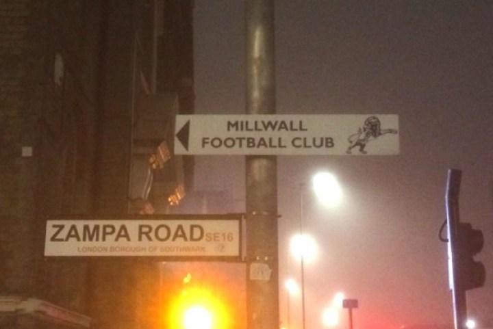 Millwall's Zampa Road address
