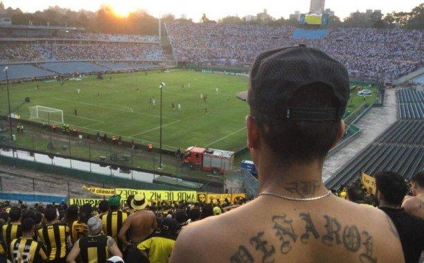 Peñarol fans at the Centenario, Montevideo