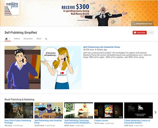 Self publishing branding on YouTube