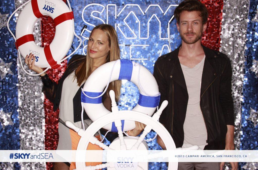 Skyy Vodka Sea Themed Photo Booth by OutSnapped
