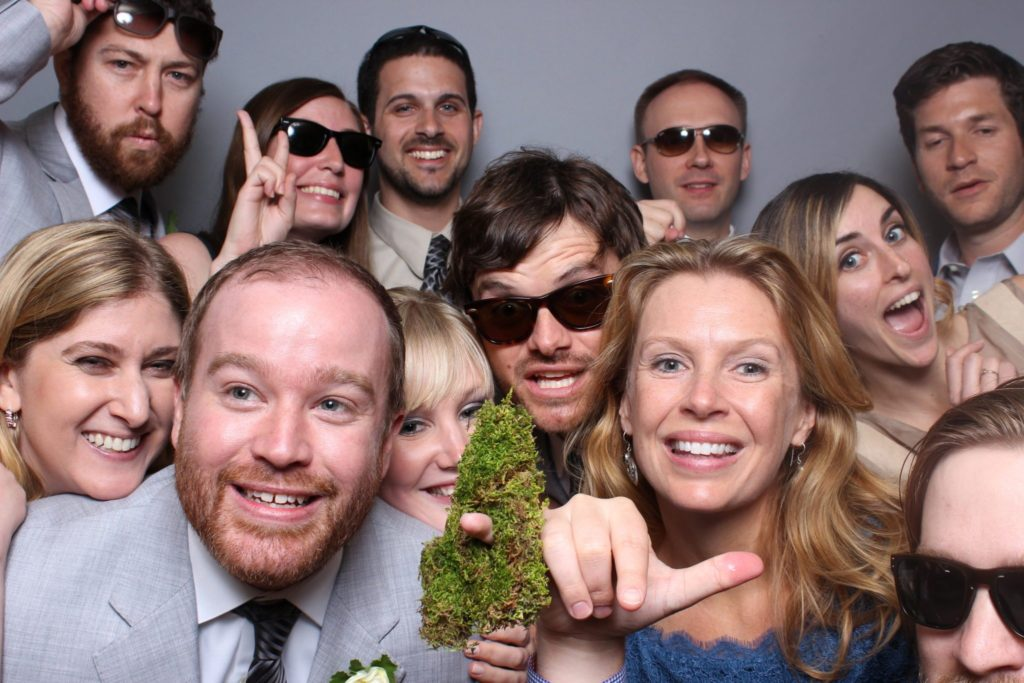 Wedding Photo Booth on Fashion Grey Backdrop by OutSnapped