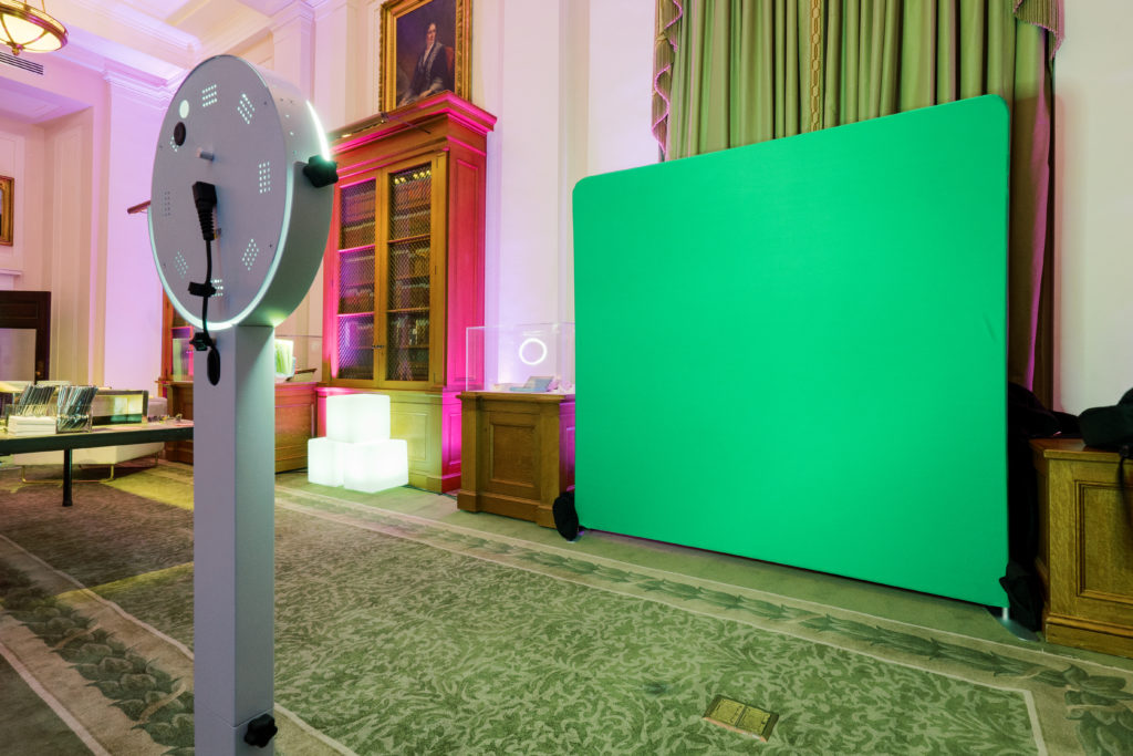 OutSnapped Green Screen Photo & Video Booth on-site at Non-Profits Night Out at the New-York Historical Society. [Photo courtesy of Fred Marcus Studio]