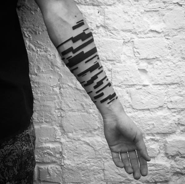 Blockwork Arm Tattoo