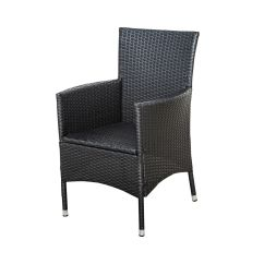 Woven Plastic Garden Chairs Fabric To Cover Dining Room Chair Seats Outsunny 2pc Outdoor Rattan Wicker Patio Furniture