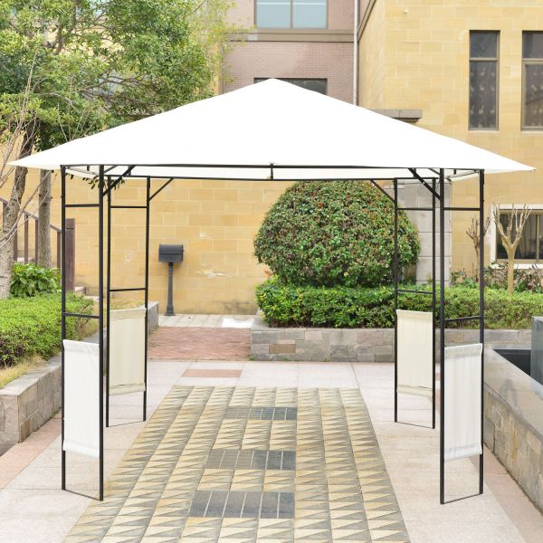10'x 10' Outsunny Outdoor Patio Gazebo Cover Canopy Party Tent Pavilion Shade