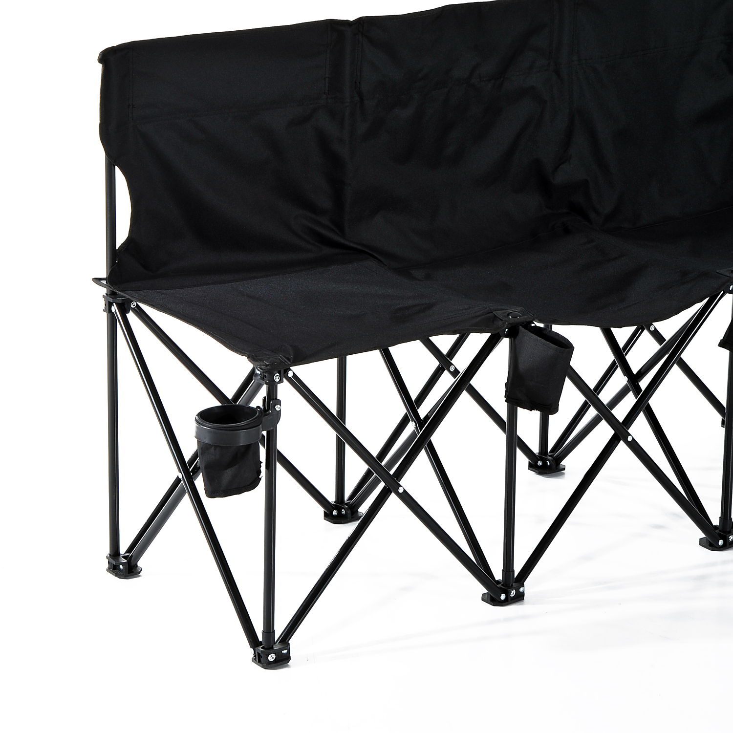 Portable 6 Seats Folding Bench Chair Outdoor Camping