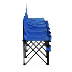 Outdoor Sports Chairs Ikea Chair Covers Aron Portable 6 Seats Folding Bench Camping