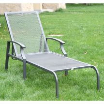 Patio Chaise Lounge Chair Outdoor Furniture Adjustable