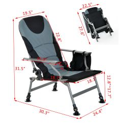 24 Inch High Folding Chairs Ergonomic Office Chair Ebay Fishing Camping Outdoor Furniture Heavy Duty