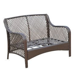 Outsunny 4pc Rattan Wicker Outdoor Patio Furniture Sofa Set How To Protect Leather From Cat Scratches Rocker Chair Swivel Garden ...