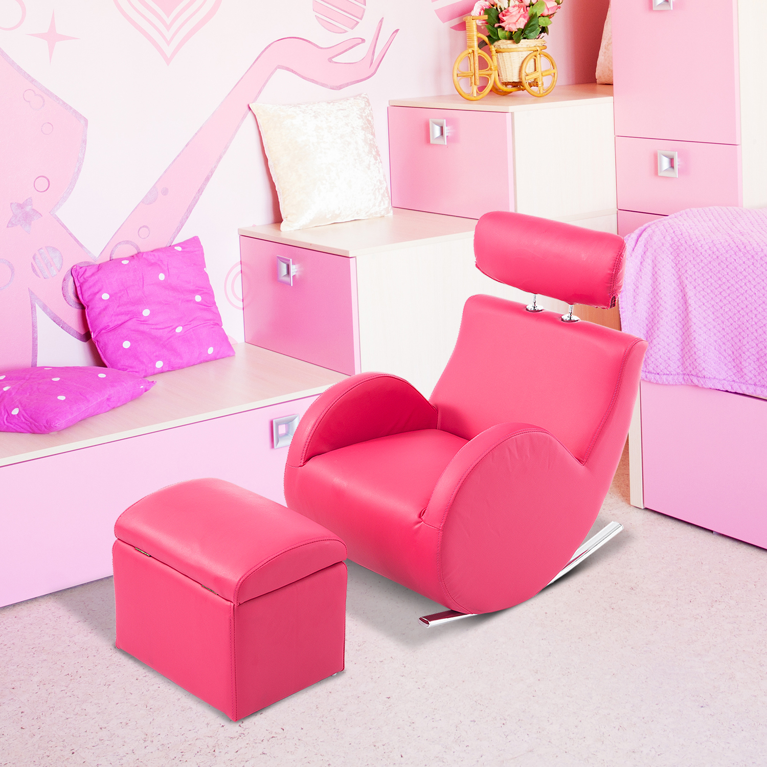 pink leather sofas sectional sofa with 2 recliners kids chair thesofa