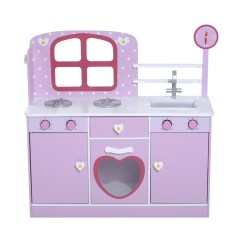 Kids Kitchen Appliances Wooden Cabinets Wholesale New Wood Children Pretend Play Set Cooking