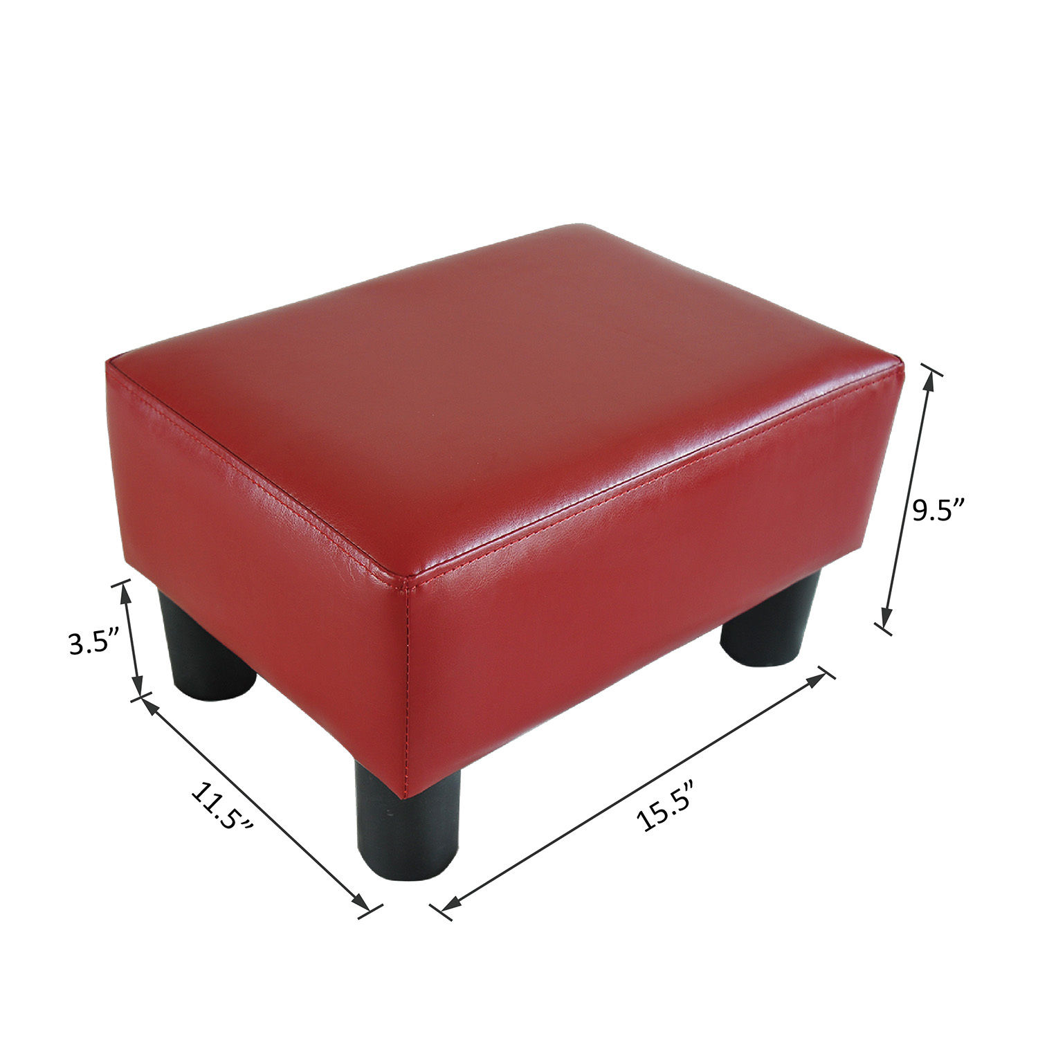 chair stool sofa acrylic desk modern faux leather ottoman footrest foot rest small