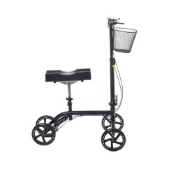 Knee Wheelchair Black Lacquer Dining Chairs Steerable Folding Walker Scooter Turning Brakes