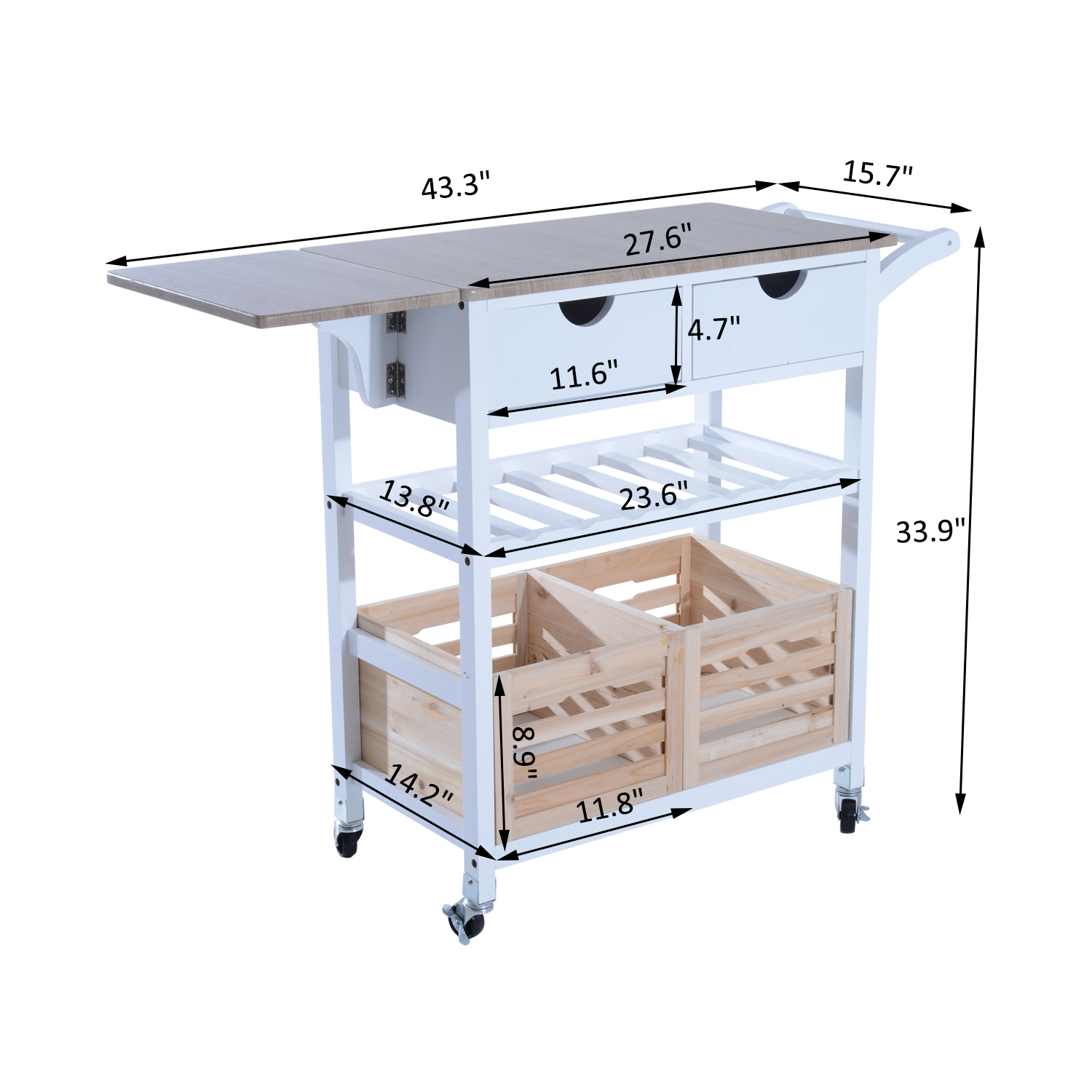 kitchen carts on wheels grape decorations for trolley cart drop leaf table folding dining modern