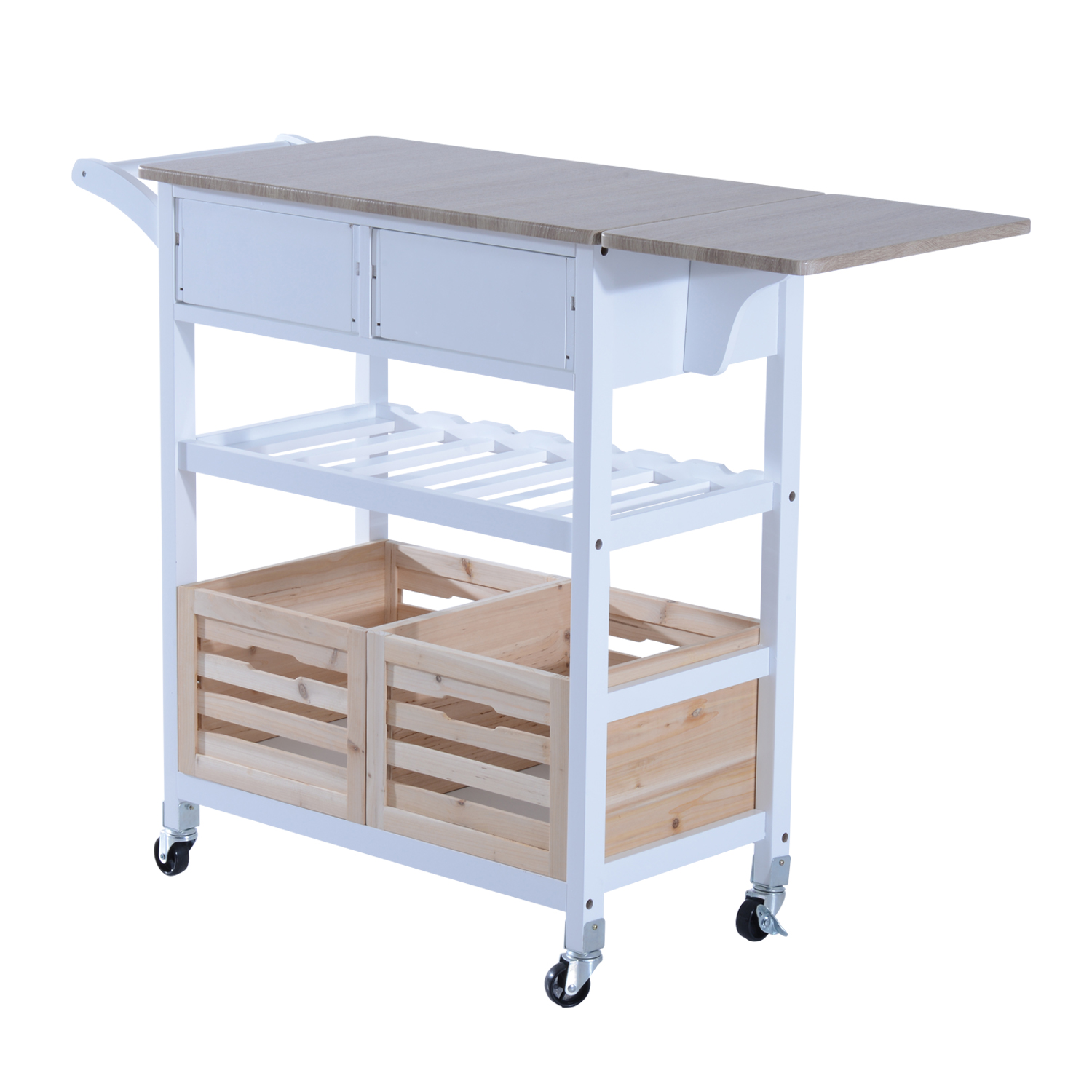 kitchen carts on wheels solid wood table trolley cart drop leaf folding dining modern
