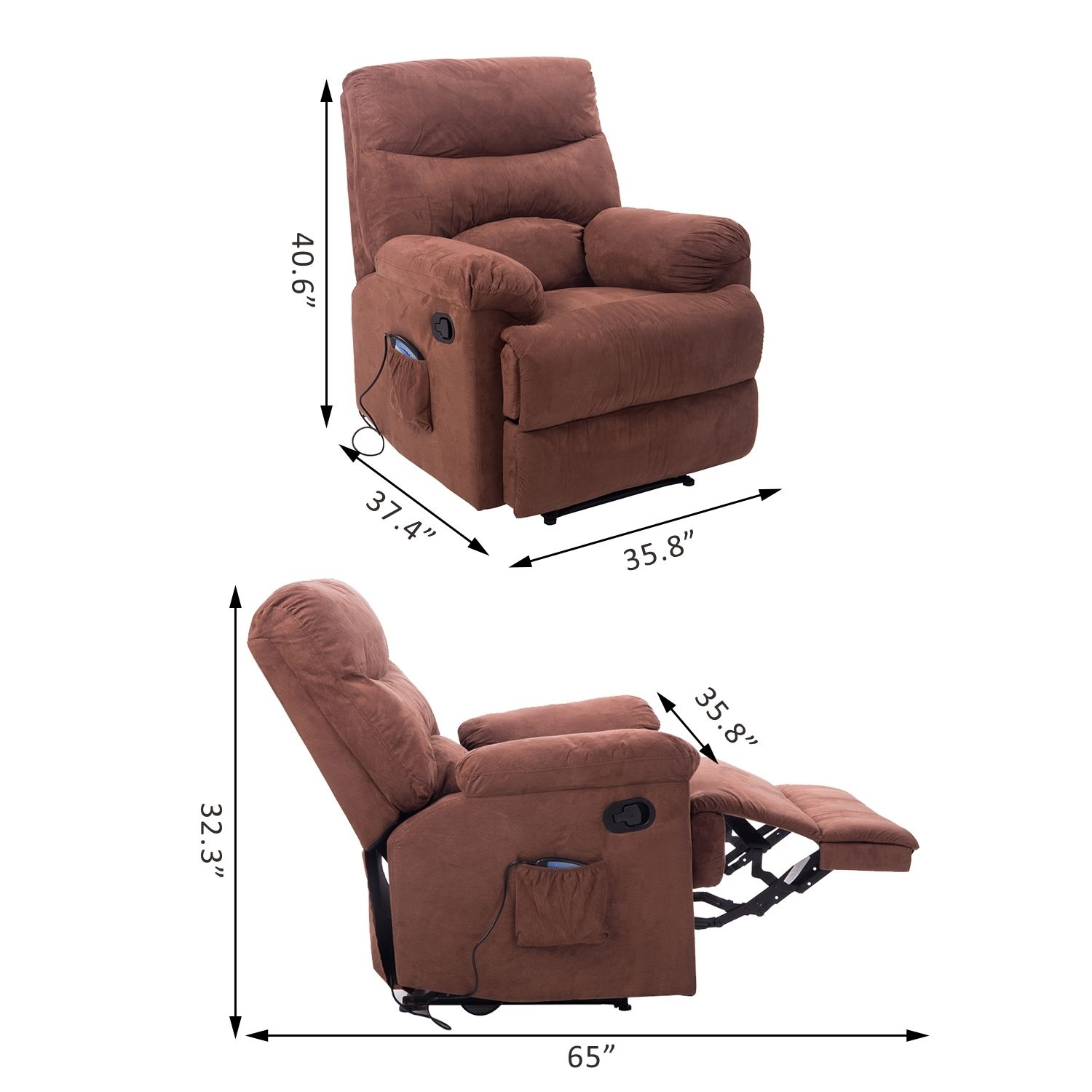 how much are massage chairs pembrook chair corp heated recliner vibrating turns sofa w