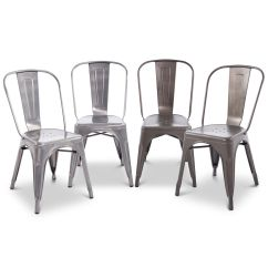 Rustic Metal Kitchen Chairs Chair Covers For Folding Set Of 2 Dining Steel Vintage