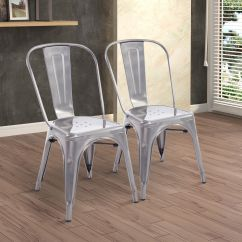 Rustic Metal Dining Chairs Wicker Chair For Sale Set Of 2 Steel Vintage