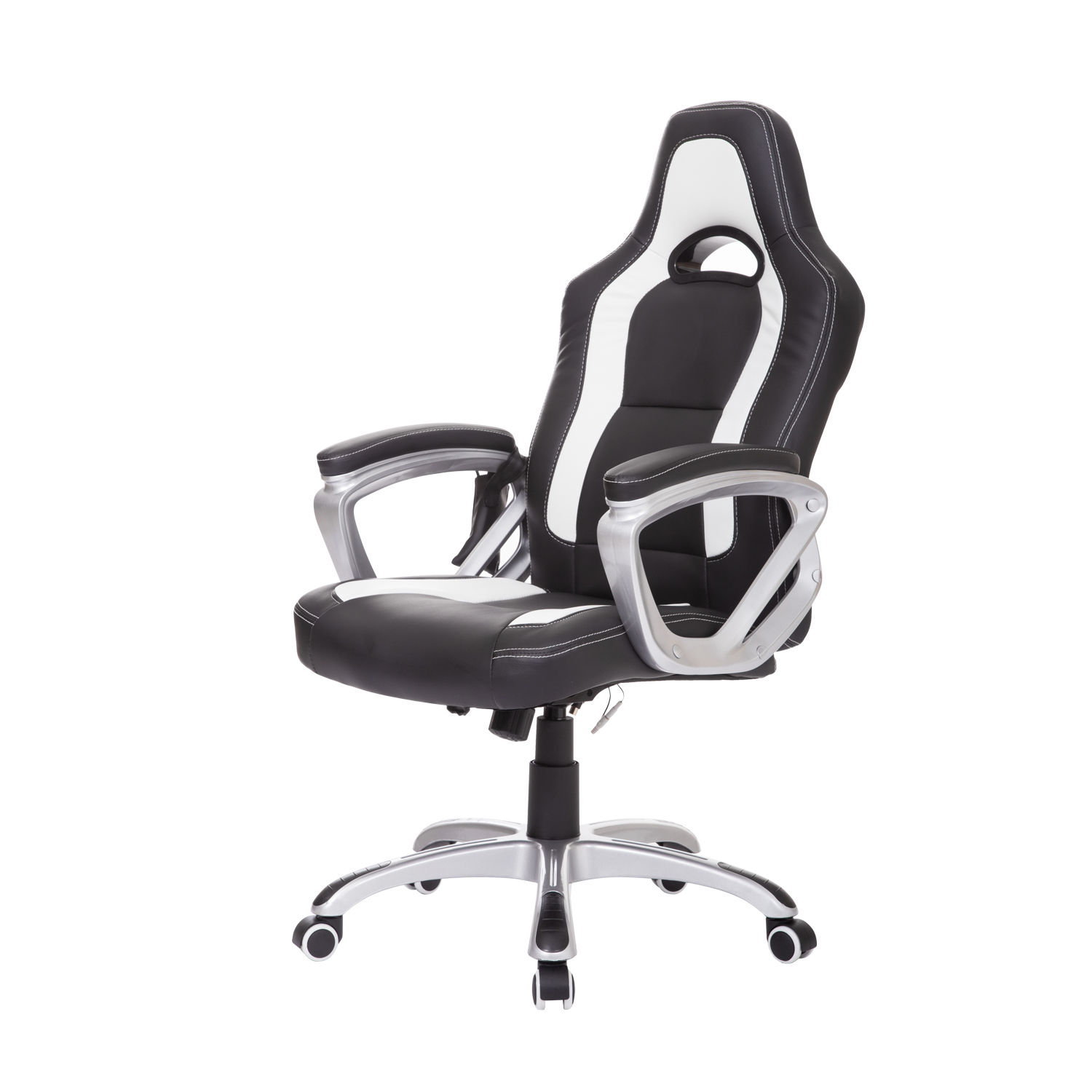 Heated Massage Office Chair Homcom Race Car Style Pu Leather Heated Massaging Office