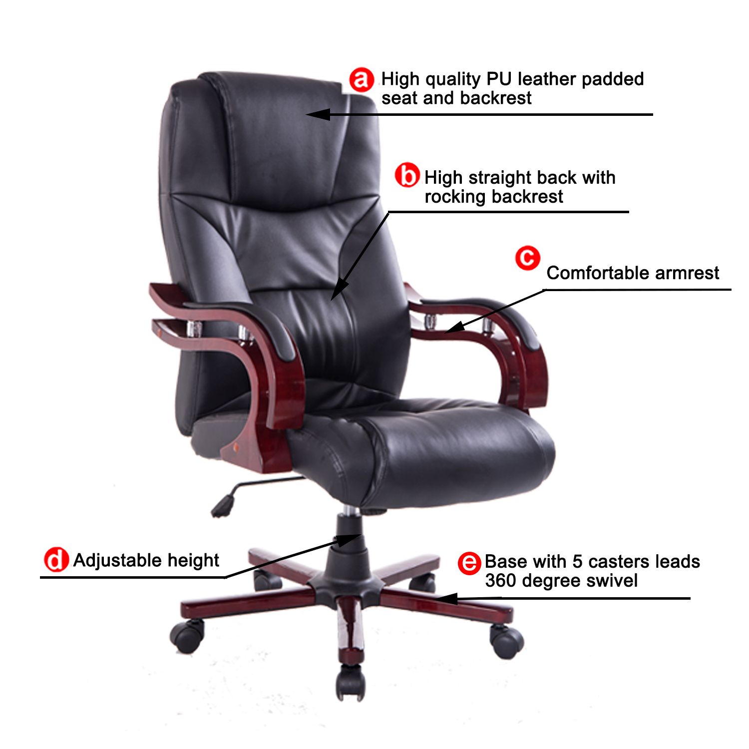 revolving chair features swivel glider high back ergonomic executive task desk office