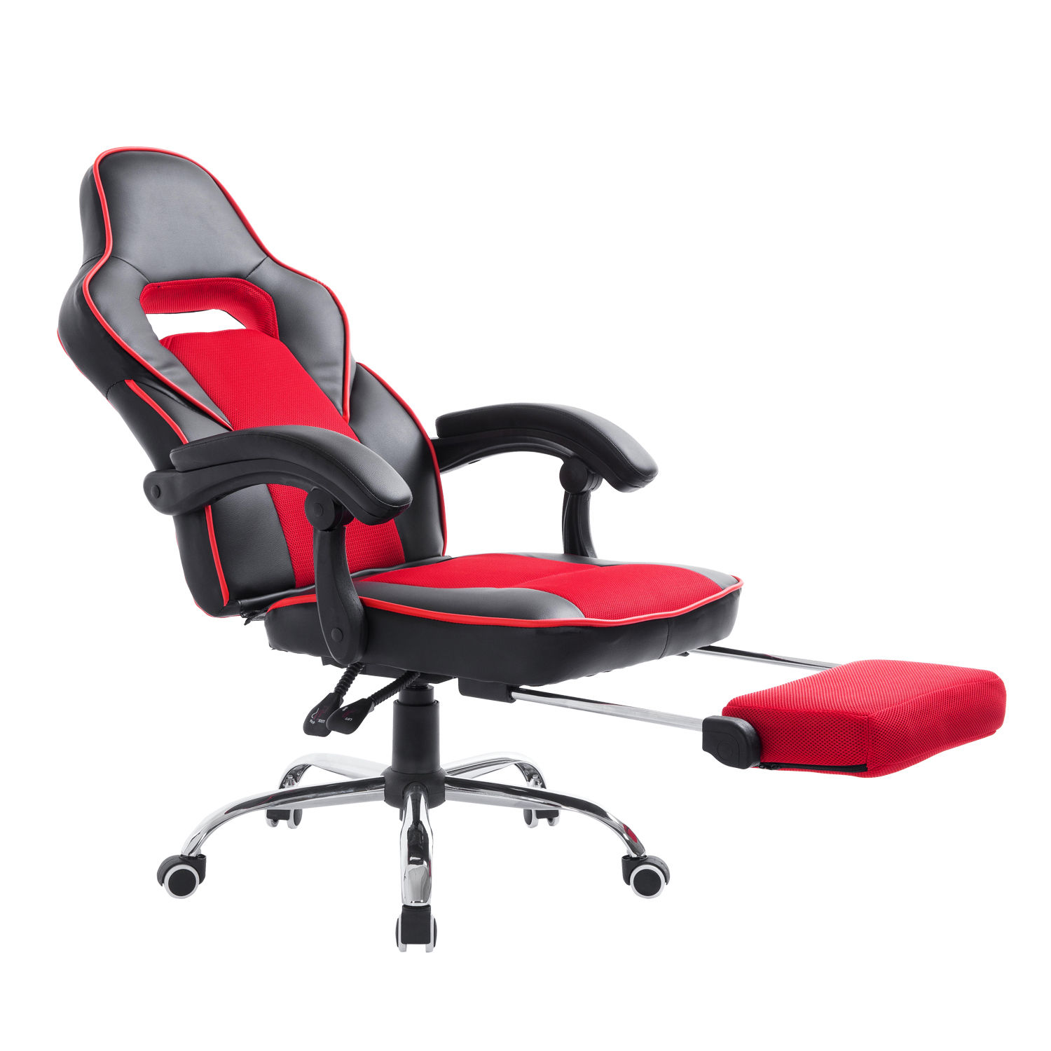 gaming chair with footrest xl zero gravity canopy high back office swivel race car style pu