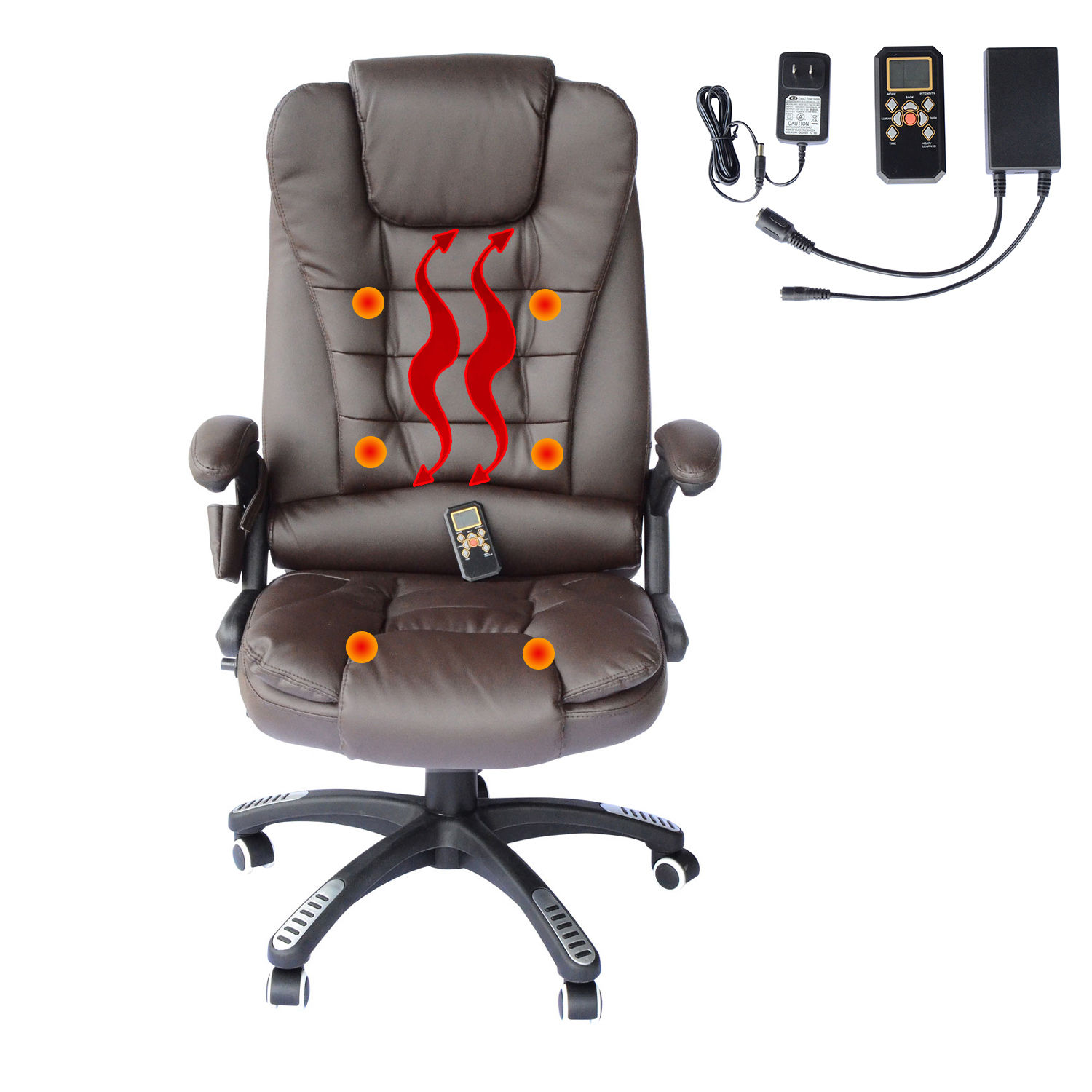 Heated Massage Office Chair Home Office Computer Desk Massage Chair Executive