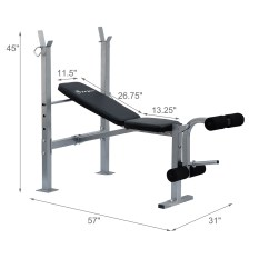 Gym Chest Chair Upholstered Swivel Recliner Chairs Adjustable Weight Bench Barbell Incline Flat Lifting