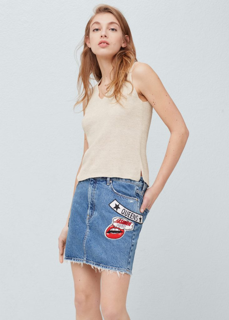 Lust Vs Must: Patch Denim Skirts