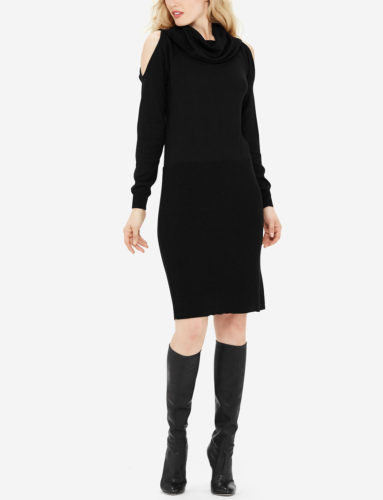 The Daily Find: Cold Shoulder Sweater Dress