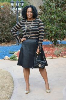 Top - Zara , Skirt -The Limited (Similar Style Here), Handbag - Kate Spade (Similar Style Here), Shoes - Nine West (Buy Here)