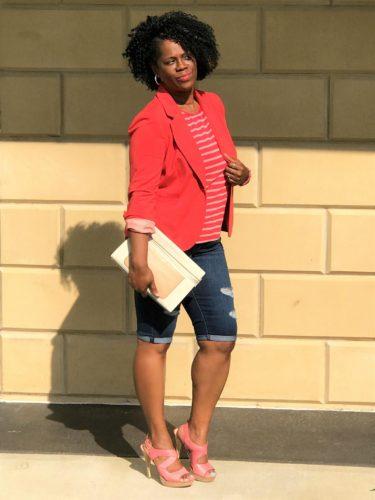 Blogger Style: Distressed Denim Shorts