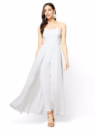The Daily Find: Strapless Chiffon Overlay Jumpsuit