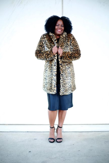 A New Day: Women's Leopard Faux Fur Coat