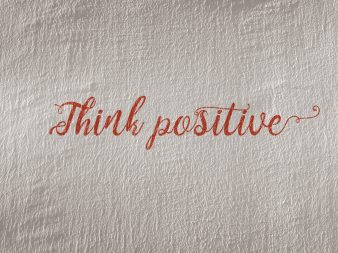 Think Positive text illustration