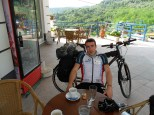 Coffee stop at the top of the hill