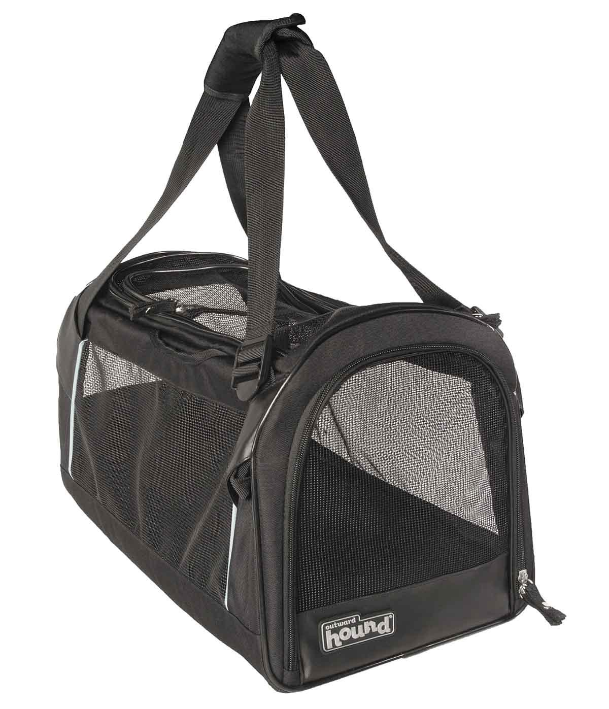 black pet carrier. pet travel accessories