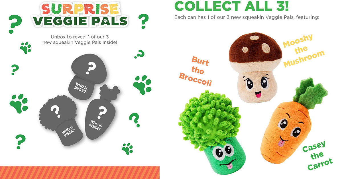 Veggie Pals are fun collectible toys for dogs
