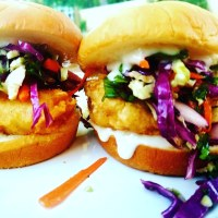 Asian Fusion Fish Sandwich