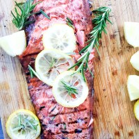 Grilled Salmon with Rosemary and Hot Honey