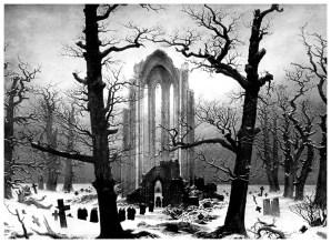 Caspar David Friedrich: Cloister Cemetery in the Snow, 1817-19