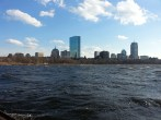 Boston, MA from the Charles River. Boston depuis la Charles River.