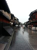 Gion, one of the oldest districts of Kyoto. Gion, l'un des plus vieux quartiers de Kyoto.