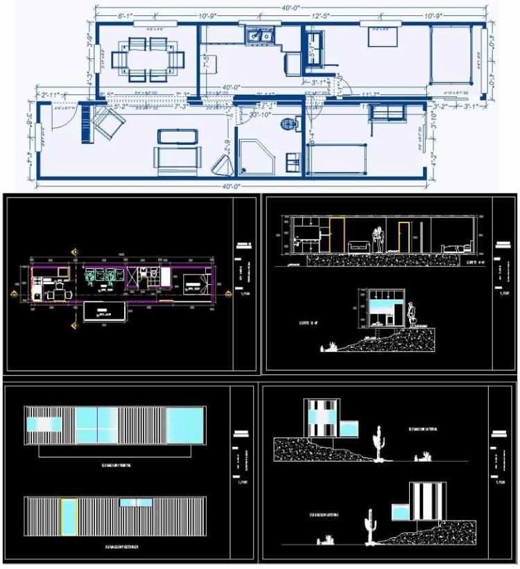 planos de casa contenedor