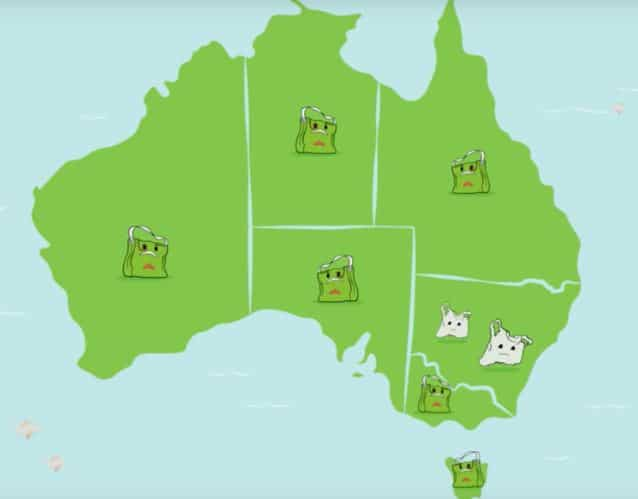 mapa bolsas recicladas australia