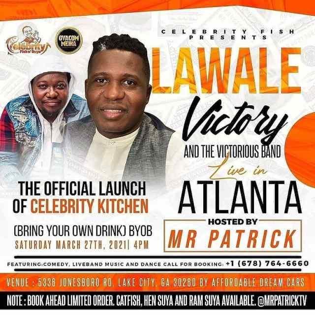 Popular Award-Winning Comedian, Mr Patrick, Launches Celebrity Kitchen In Atlanta